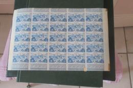 Cameroun 1946 Poste Aérienne 6 Feuilles  Entières De 25 Exemplaires Neufs Sans Trace De Ch     CAT YT  N° 32 à 37 - Unused Stamps