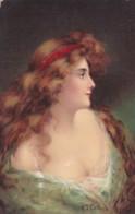ILLUSTRATEUR G.T. COLLINS FEMME DE PROFIL (lot Pat 103/03) - Künstlerkarten