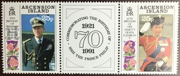 Ascension 1991 Queen & Prince Philip Birthday MNH - Ascension