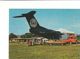L'aérodrome De OYEM Peu Courante CPSM 15X10.5 Animée Bon état Voir Scans - Gabon