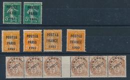 DI--679: FRANCE: Lot Avec Préo N°26 Obl (2 2ème Choix)-30(2)-33-36 (obl) + 40** Bande De 6 - Préoblitérés
