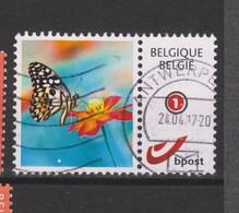Timbre Oblitéré Animaux Papillon - Timbres Personnalisés