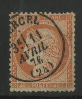 """N° 38d """"4 Retouché"""" Cote 200 € Oblitéré C-à-d """"VERCEL 11/04/76 (24)"""". Très Belle Frappe De L'oblitération. TB - 1870 Siege Of Paris"""