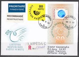 Briefumschlag Aus Litauen 1998. - Lithuania