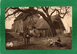 NORMANDIE PITTORESQUE, Ferme Normande, Animée, Mulet, 1946, (Le Goubey, St-Pierre-Eglise - Basse-Normandie