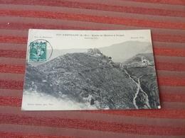 DEPT  06  CASTILLON ROUTE DE MENTON A SOSPEL FORT DU BARBONNET VOYAGEE  1910 DEUX SCANS RECTO VERSO - Autres Communes