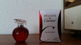 ACHAT IMMEDIAT;;;;MINIATURE DELICES DE CARTIER 5 ML EAU DE TOILETTE - Miniatures Femmes (avec Boite)
