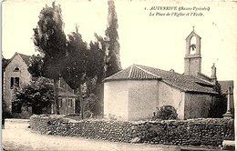 64 - AUTERRIVE --  La Place De L'Eglise Et  L'Ecole - Autres Communes