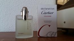 ACHAT IMMEDIAT;;;;MINIATURE DECLARATION COLOGNE DE CARTIER 12.5 ML EAU DE TOILETTE VAPO - Miniatures Men's Fragrances (in Box)