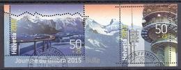 Switzerland / Svizzera / Schweiz 2015 - Journée Du Timbre, Stamp Day, Bulle, Montagne, Mountains, Alps Used M/S - Gebraucht