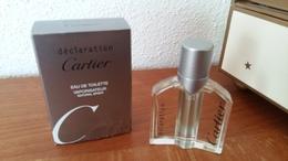 ACHAT IMMEDIAT;;;; MINIATURE DECLARATION DE CARTIER 10 ML EAU DE TOILETTE VAPORISATEUR - Miniatures Men's Fragrances (in Box)