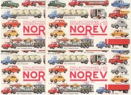 BUVARD LOT 4 BUVARDS NOREV VOITURES RENAULT 4 CV DAUPHINE CITROEN DS 2 CV CAMION HY - Automotive