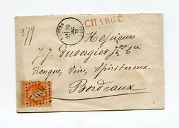 !!! 40C LAURE SUR LETTRE CHARGEE DE NANTES POUR BORDEAUX DE 1870 - 1849-1876: Période Classique