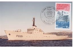 TAAF - Carte Postale Commémoration De La Mise En Service Du Patrouilleur ALBATROS Le 02 Juillet 1984 - Franse Zuidelijke En Antarctische Gebieden (TAAF)