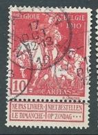BELGIQUE     YVERT N° 91  Oblitéré   Aab 26421 - 1910-1911 Caritas
