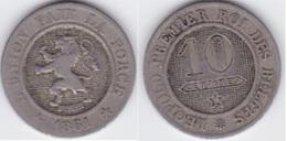 LOT 005 LEOPOLD Ier   10 CENTIMES  ANNEE 1861 TYPE CUPRO-NICKEL - 1831-1865: Leopold I