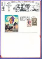 FRANCE- CARTE OBL.ORADOUR SUR GLANE 30.11.92 HAUTE VIENNE  + FLAMME SOUVIENS TOI - Guerre Mondiale (Seconde)