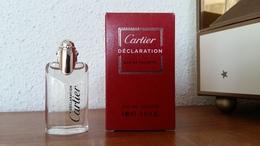 ACHAT IMMEDIAT;;;;MINIATURE DECLARATION DE CARTIER GROSSE BOITE 4 ML EAU DE TOILETTE - Miniatures Femmes (avec Boite)