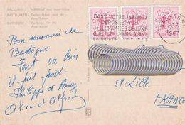 L4D080 Belgique CP Bastogne Pour Lille France OMEC  Dans Votre Intérêt ….. 30 10 1967 - Cartes Postales [1951-..]