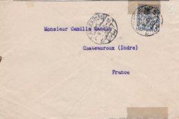 L4D136 EGYPTE Lettre Alexandrie Pour Chateauroux Indre 02 05 1923 15  M Bleu - 1915-1921 Protectorat Britannique