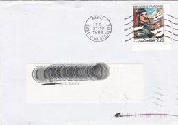 L4D320 Maury N° 2519 Communication Bilal 2,20f OMEC Paris Gare Austerlitz 21 10 1988 - 1961-....
