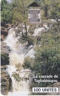 TARJETA DE BURKINA FASO DE 100 UNITES DE ONATEL DE UNA CASCADA (CATARATA-WATERFULL) - Burkina Faso