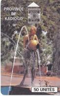 TARJETA DE BURKINA FASO DE 50 UNITES DE ONATEL DE PROVINCE DE KADIOGO - Burkina Faso