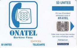 TARJETA DE BURKINA FASO DE 50 UNITES DE ONATEL - Burkina Faso
