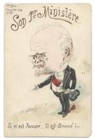 Aquarelle Signée ROBERT - Il N'est POINCARÉ Il Est BRIAND - Janvier 1913 - Caricature Politique - Humour - Robert