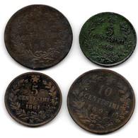 Lot 4 Monnaies Italie Lot A Voir - 1861-1878 : Victor Emmanuel II