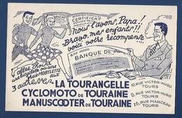 37 - TOURS - BUVARD ILLUSTRÉ - LA TOURANGELLE - BICYCLETTES, MOBYLETTES,  SCOOTER - 8 ET 19 RUE V. HUGO - 26 RUE MARCEAU - Tweewielers
