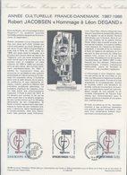 COLLECTION HISTORIQUE DU TIMBRE FRANCAIS...1132 ROBERT JACOBSEN, HOMMAGE A LEON DEGAND - FDC