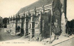 CAEN L'EGLISE SAINT GILLES CHOCOLAT LOUIT - Caen