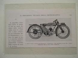 """Motocyclette Italienne """" MOTOCICLETTA NAZIONALE 250 Cm³ """"    - Coupure De Presse De 1928 - Motos"""