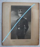 Photo ABL Portrait Officier Sabre Sword Infanterie Grenadiers Pre 1914 Armée Belge Belgische Leger Militaria - Oorlog, Militair