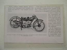 "Motocyclette Italienne De Course  "" MOTOCICLETTA  MOTO GUZZI DA CORSA 250 Cm³  "" - Coupure De Presse De 1928 - Motos"