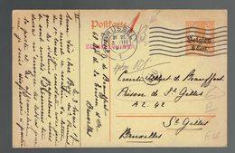 CP Occupation 10 De Brussel 3 III 1917 => Prison De St. Gilles à St. Gilles - Ganzsachen