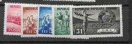 1950 MNH Romania Mi 1242-46 - 1948-.... Républiques