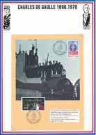FRANCE- DOCUMENT INSPECTION SOUS MARIN GNL DE GAULLE +  AMIRAL MUSELIER OBL. EXPO DE GAULLE 30.08.87 LAGNY SUR MARNE - WW2