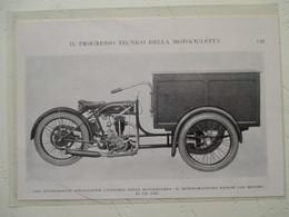 "Motocyclette Italienne Fourgon  "" MOTOCICLETTA  MOTO FURGUNCINO BIANCHI 175 Cm³  "" - Coupure De Presse De 1928 - Motos"
