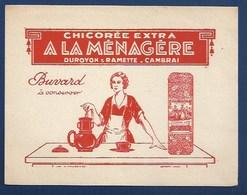 """BUVARD ILLUSTRÉ -  CHICORÉE """"À LA MÉNAGÈRE"""" - Café & Thé"""
