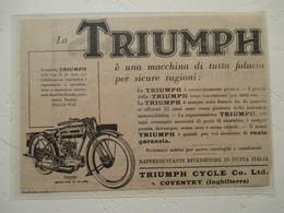 "Motocyclette   "" MOTO TRIUMPH 4.94 HP N De Luxe  "" - Coupure De Presse De 1928 - Motos"
