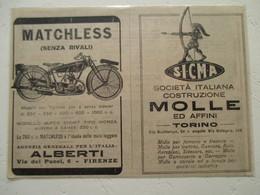 """Motocyclette   """" MOTO MATCHLESS Super Sport Tipo Monza 350 Cm³  """" - Coupure De Presse De 1928 - Motos"""