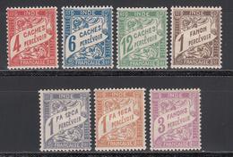 India, Taxe 1929 Yvert Nº 12 / 18 MH - Indië (1892-1954)