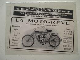 Bicyclette à Moteur Suisse MOTO REVE   - Coupure De Presse - Motos