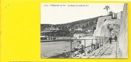 VILLEFRANCHE Sur MER Rare Le Chemin De Ronde Du Fort Pub Chocolat Louit (Lacour) Alpes Maritimes (06) - Villefranche-sur-Mer