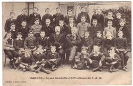 CAHORS - Lycée Gambetta (1907) - Classe 4è A.B. - Cahors