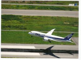 Boeing 787-8, ANA Japanese Airline,  Uncirculated Postcard Of Japan - 1946-....: Modern Era