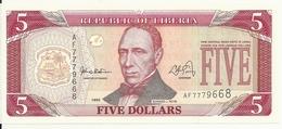 LIBERIA 5 DOLLARS 1999 UNC P 21 - Liberia
