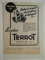 """Scooter Moto  """"  TERROT Dijon  """" - Coupure De Presse De 1957 - Motos"""